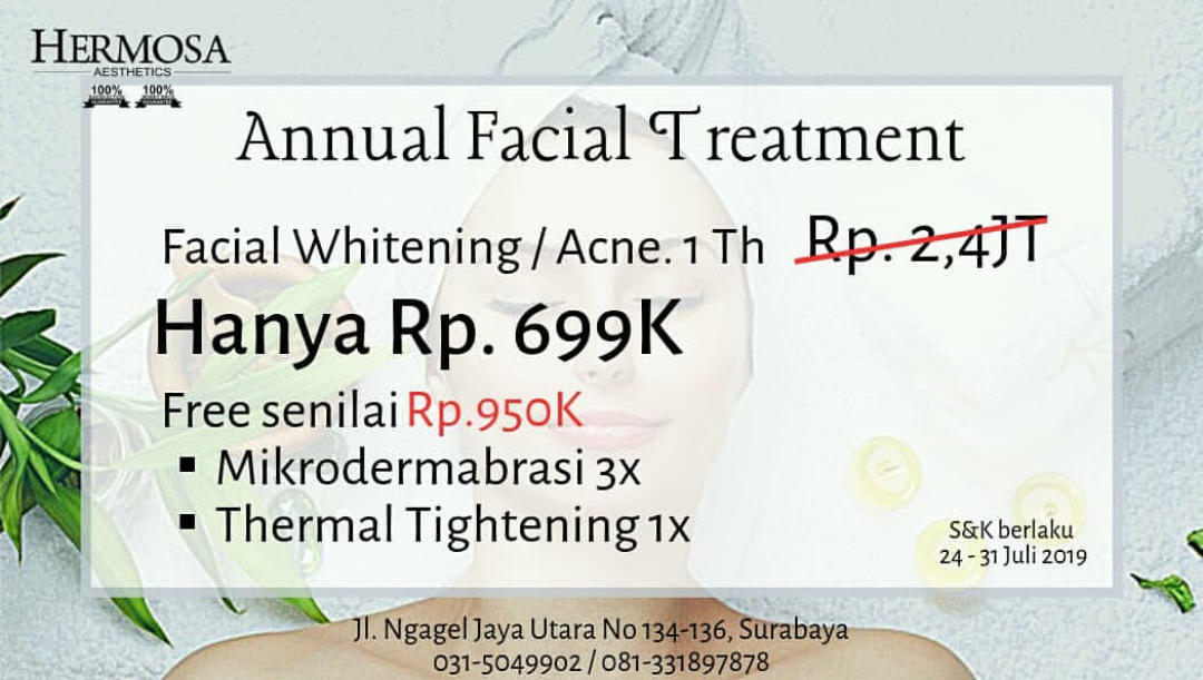 ANNUAL FACIAL TREATMENT
