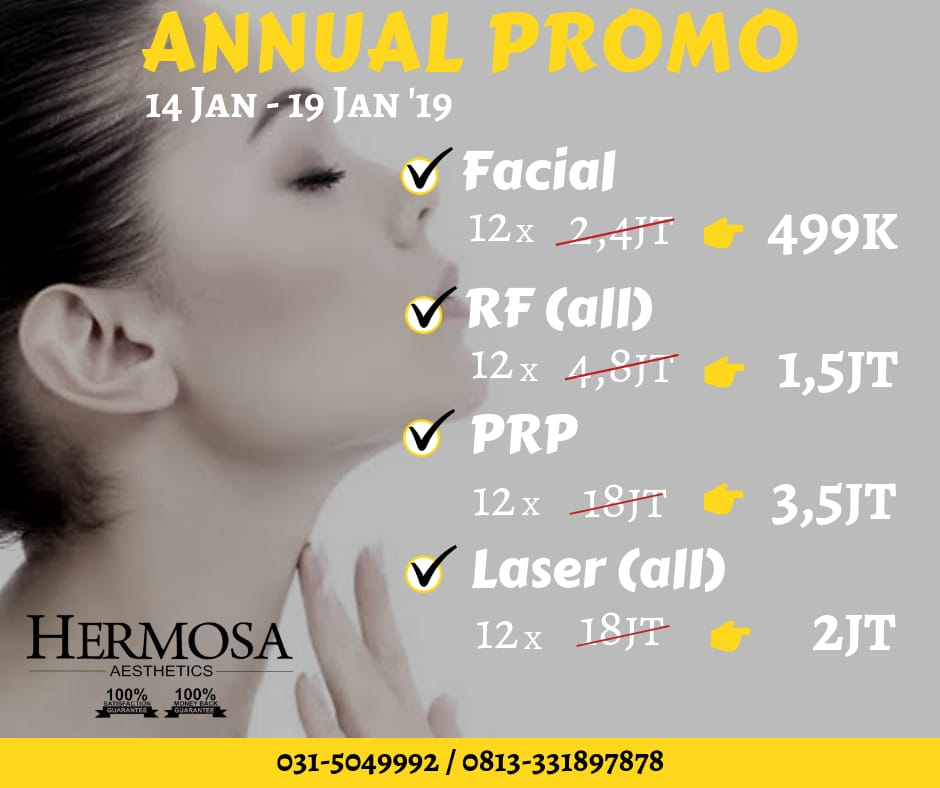 ANNUAL PROMO HERMOSA CLINIC 50% DISCOUNT UP TO