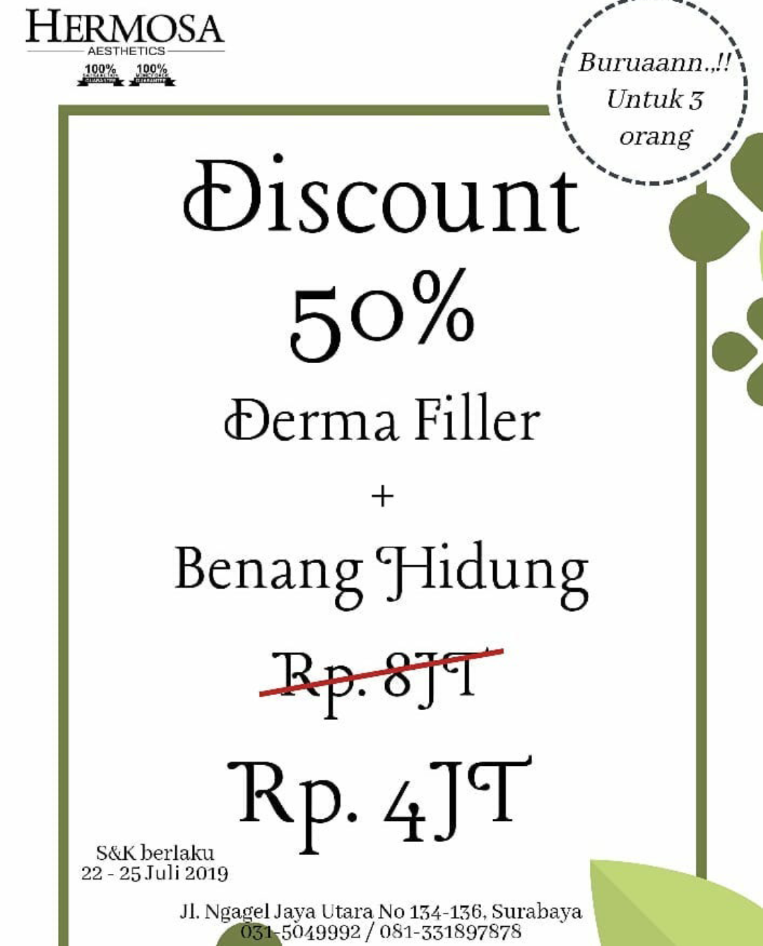 DISCOUNT 50%