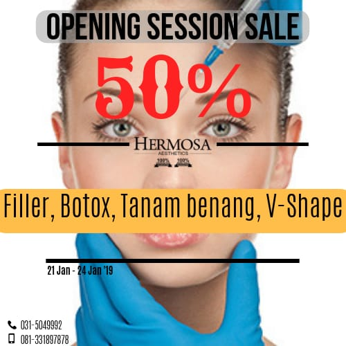 OPENING SESSION SALE 50% DISC