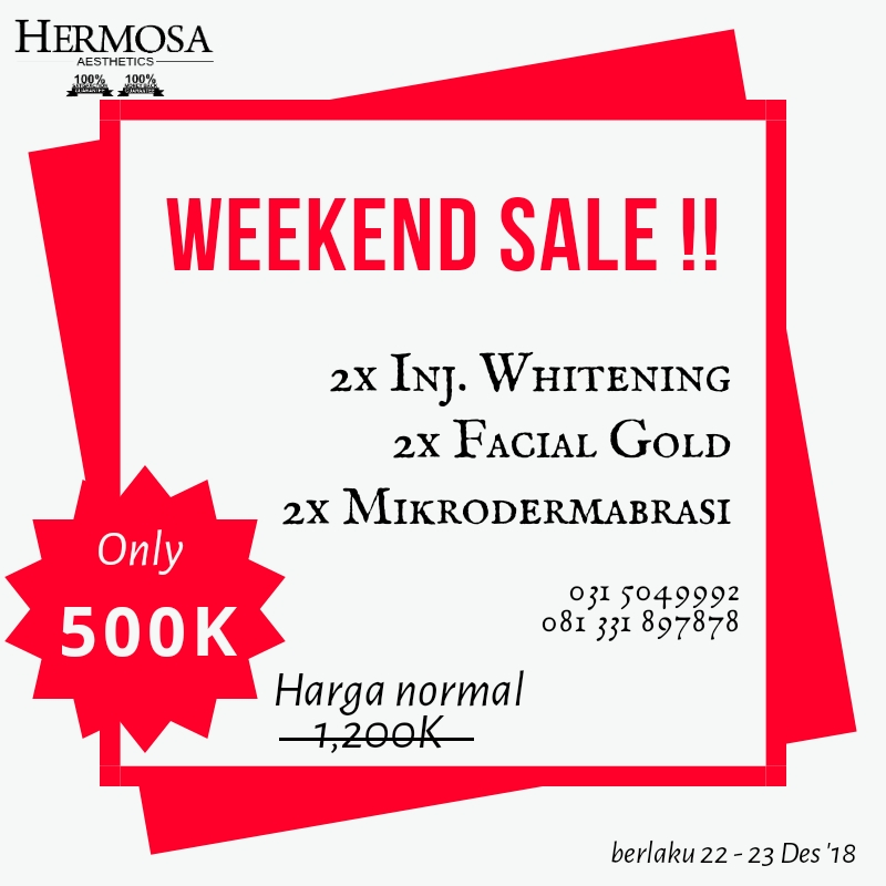 Spesial Promo Treatment hanya dengan 500 Rb