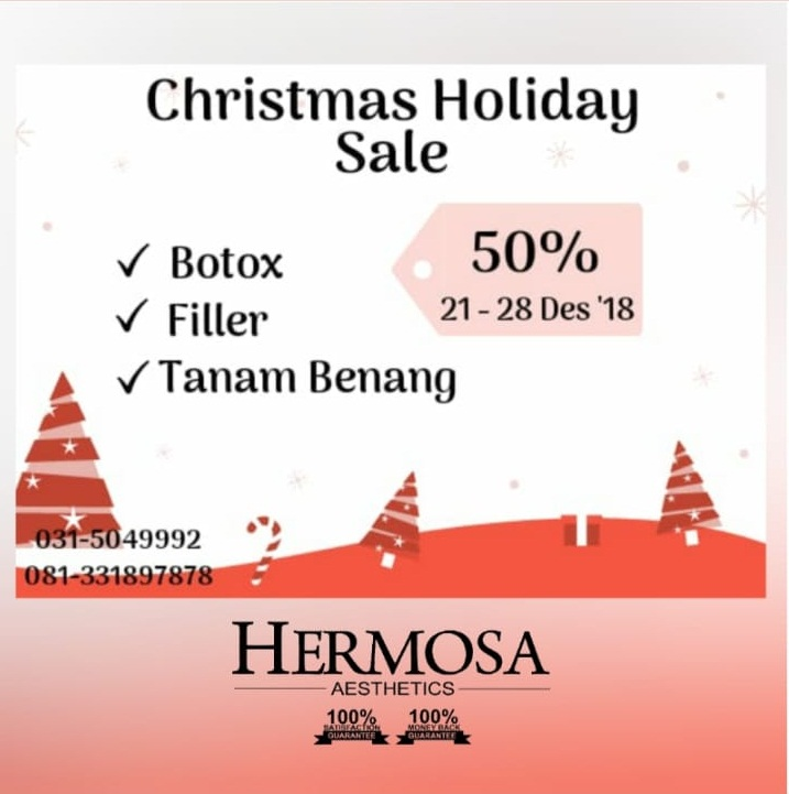 TREATMENT FILLER, BOTOX , TANAM BENANG , POTONGAN 50%